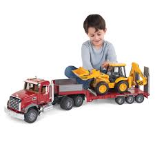 the mack truck with backhoe loader hammacher schlemmer