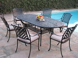 Garden Patio Table And Chairs Kawaii Collection Outdoor Cast Aluminum Patio Furniture 7 Piece