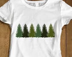 Tree Shirt Pine Tree T Shirt Etsy