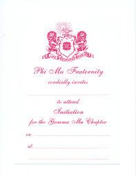 pink flat color alpha stationery u2013 phi mu u0026 phi sigma rho themography flat cards
