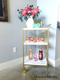 ikea hack glam diy bar cart nesting on oleander