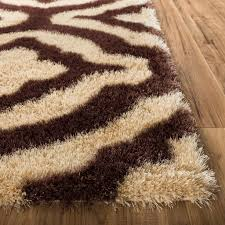 Modern Shaggy Rugs by Luster Lattice Shag Beige U0026 Taupe Solid Plain Modern Ultra Thick