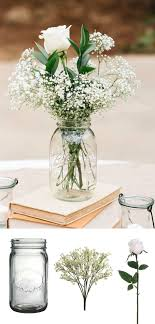 simple center pieces make this simple diy vintage rustic centerpiece with jars