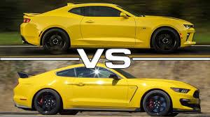 camaro vs mustang 2016 chevrolet camaro ss vs 2016 ford mustang shelby gt350r