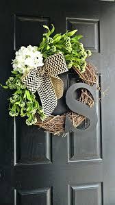 Door Monogram Decoration Monogram Front Door Decoration Spring And Summer Wildflower