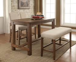 4pcs transitional natural tone finish counter height table set