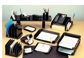 Executive Desk Organizer Officemate Surface Shelf Smoke 22251 Office