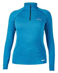 l with outlet in base berghaus thermal base l s zip neck underwear t shirts blue women s