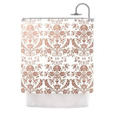 Kess Shower Curtains Kess Inhouse Kess Original U0027baroque Rose Gold U0027 Shower Curtain