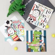 boys birthday card pack cards caroline gardner