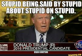 Memes About Being Awesome - funny donald trump meme stupid being said by stupi by h4grimms on