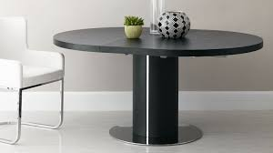 elegant black circular dining table in decorating home ideas with