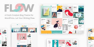flow a fresh creative blog theme by elated themes themeforest