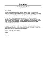 resume cover letter exles best industrial maintenance mechanic cover letter exles livecareer