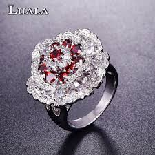 big flower rings images Lalala new a big flower ruby engagement jewelry rings romantic 18k jpg