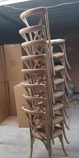 wholesale wood x cross back dining chair with cushion for living
