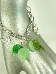 leaf charm bracelet images Green leaves bracelet womens jewelry leaf charm bracelet my JPG