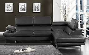 Modern Leather Sectional Sofa Amazon Com Furniture Of America Keen Bonded Leather Sectional