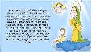 imagenes de virgen maria infantiles oración a la virgen maría para niños oraciona