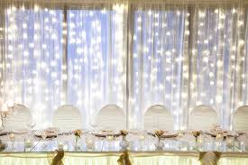 Curtains For Wedding Backdrop Wedding Fairy Lights Backdrop By Cinderella Dream Bridestory Com