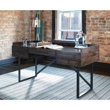 signature design by ashley starmore brown home office desk home signature design by ashley starmore brown home office desk home office desk