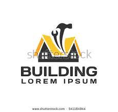 house repair logo house real estate stock vector 541184944