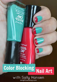 color blocking nail art with sally hansen iheartmynailart a