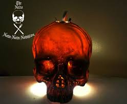 light bulb vintage horror flicker skull a vintage light bulb necro crafting diy decorated candles eat the dead halloween