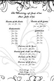 wedding program design template wedding program templates free printable wedding program templates