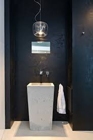 badmã bel designer waschbecken pendelleuchte tuch spiegel wand schwarze farbe bad