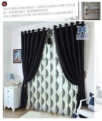 Drapes Black And White Thick Black And White Chenille Curtains Upscale Modern 10 Latest