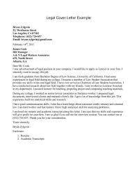 examples of legal cover letters best legal secretary cover letter