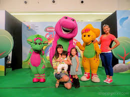 meeting barney baby bop and jb at the mall barney pinterest