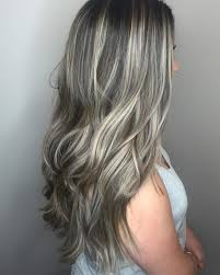 dark hair with grey streaks 75 classy balayage hair colors designs trends that rock