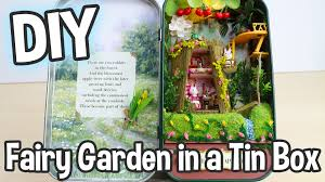 diy fairy garden in a tin can miniature dollhouse kit box theatre