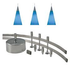 monorail pendant lighting kit jesco lighting 96 in low voltage 150 watt monorail kit with 3 blue