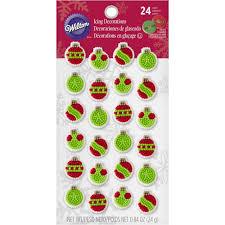 mini ornament edible cupcake toppers wilton