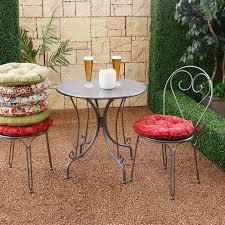 Modern Bistro Chairs Decorative Round Seat Cushions Tufted Design Modern Floral Print