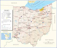 50 States Map With Capitals by Ohio State Map Ohio Map Ohio State Road Map Map Of Ohio