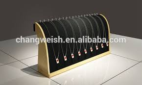 necklace display stand images Modern jewelry vitrine wood necklace display stand buy wood jpg