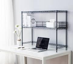 Dorm Desk Bookshelf Desktop Metal Bookshelf Gray