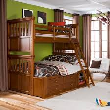 furniture picture of twin over full wood bunk mattress set