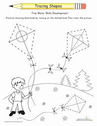 tracing shapes diamonds tracing shapes shapes worksheets and