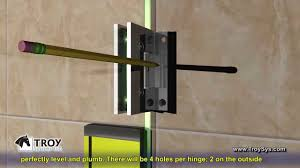 hinges for glass door how to install a troy systems single shower door installation