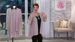 Drape Cardigan Pattern Joan Rivers Drape Front Crochet Cardigan With Long Sleeves On Qvc
