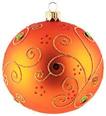 jeweled orange ornament contemporary ornaments