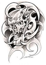 otok design tribal tattoos with skulls