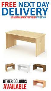 Maple Office Desks Impulse Panel End Rectangle Desk 1600mm Wide Maple Office