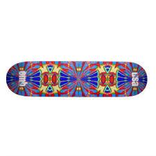 skateboard designen blue design skateboard decks zazzle