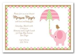 girl baby shower elephant umbrella girl baby shower invitations